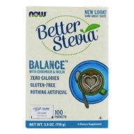 NOW Foods - Stevia Balance with Inulin and Chromium - 100 Packet(s) (733739069689)