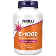 NOW Foods - Vitamin E 1000 IU - 100 Softgels (733739009029)