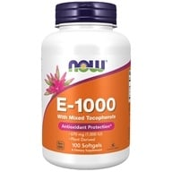 NOW Foods - Vitamin E 1000 IU - 100 Softgels, from category: Vitamins & Minerals