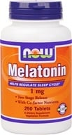 NOW Foods - Melatonin with B3, B6, & Magnesium - Timed-Release, Vegetarian 1 mg. - 250 Tablets (733739032638)