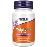 Image of NOW Foods - Melatonin 3 mg. - 60 Capsules