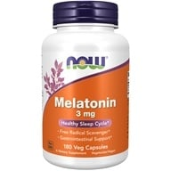 Image of NOW Foods - Melatonin 3 mg. - 180 Capsules