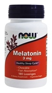 NOW Foods - Melatonin Chewable Peppermint Flavor 3 mg. - 180 Lozenges