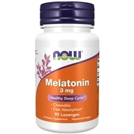 NOW Foods - Melatonin 3 mg. - 90 Lozenges - $3.88