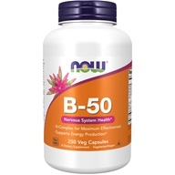 NOW Foods - B-50 Capsules - 250 Capsules, from category: Vitamins & Minerals