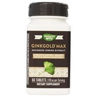 Nature's Way - Ginkgold Max 120 mg. - 60 Tablets, from category: Herbs