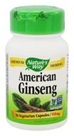 Nature's Way - American Ginseng 550 mg. - 50 Vegetarian Capsules