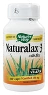 Nature's Way - Naturalax 3 With Aloe 430 mg. - 100 Vegetarian Capsules