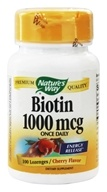 Nature's Way - Biotin 1000 mcg. - 100 Lozenges (033674404508)