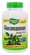 Nature's Way - Glucomannan Root 665 mg. - 180 Vegetarian Capsules (033674155899)