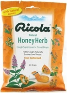 Image of Ricola - Natural Herb Throat Drops Honey-Herb - 24 Lozenges