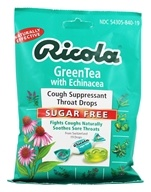 Ricola - Natural Herb Throat Drops Sugar Free Green Tea with Echinacea - 19 Lozenges (036602302075)