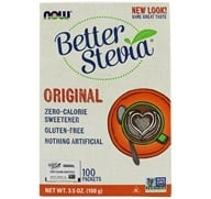 NOW Foods - Better Stevia Zero Calorie Sweetener Original Flavor - 100 Packet(s) by NOW Foods