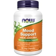 NOW Foods - Mood Support with Saint John's Wort - 90 Vegetarian Capsules (733739033512)