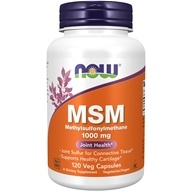 NOW Foods - MSM 1000 mg. - 120 Capsules (733739021205)