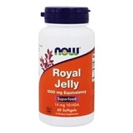 NOW Foods - Royal Jelly 1000 mg. - 60 Softgels (733739025609)