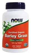 NOW Foods - Barley Grass 500 mg. - 250 Tablets (733739026682)