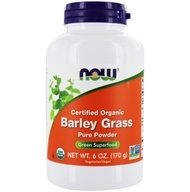 NOW Foods - Barley Grass Powder Organic, Non-GE - 6 oz. (733739026606)