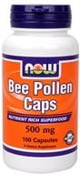 Image of NOW Foods - Bee Pollen 500 mg. - 100 Capsules