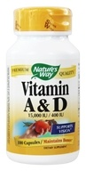 Nature's Way - Vitamin A & D 15,000 IU/ 400 IU - 100 Capsules (033674401422)