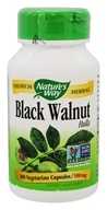 Nature's Way - Black Walnut Hulls 500 mg. - 100 Vegetarian Capsules