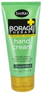 Shikai - Borage Therapy Hand Cream Unscented - 2.5 oz.