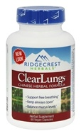 Ridgecrest Herbals - ClearLungs Chinese Herbal Formula - 60 Vegan Caps