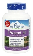 Ridgecrest Herbals - DreamOn Natural Sleep Aid - 60 Capsules, from category: Homeopathy