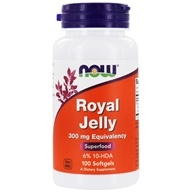 Image of NOW Foods - Royal Jelly 300 mg. - 100 Softgels