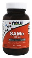 NOW Foods - SAMe Vegetarian Enteric Coated 100 mg. - 60 Tablets (733739001368)