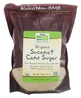 NOW Foods - Sucanat Granulated Cane Organic Non-GE - 2 lbs. (733739069658)