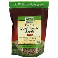 NOW Foods - Sunflower Seeds, Roasted, Hulled, Salted - 1 lb.