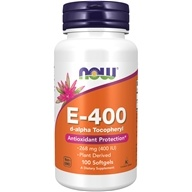 NOW Foods - Vitamin E- D-Alpha Tocopheryl Acetate 400 IU - 100 Softgels
