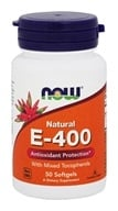 NOW Foods - Vitamin E-Mixed Tocopherols/Unesterified 400 IU - 50 Softgels - $5.34