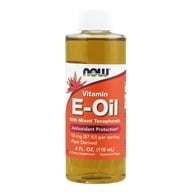 NOW Foods - Natural Vitamin E Oil Antioxidant Protection with Mixed Tocopherols - 4 oz.