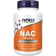 Image of NOW Foods - NAC N-Acetyl Cysteine 600 mg. - 250 Vegetarian Capsules