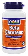 Image of NOW Foods - Beta Carotene 25000 IU - 250 Softgels