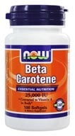 NOW Foods - Beta Carotene 25000 IU - 100 Softgels (733739003102)