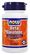 Image of NOW Foods - Beta Carotene 25000 IU - 100 Softgels