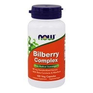 Image of NOW Foods - Bilberry Complex 80 mg. - 100 Capsules