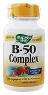 Nature's Way - Vitamin B-50 Complex with B2 Coenzyme - 100 Capsules (033674405116)