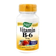 Nature's Way - Vitamin B6 100 mg. - 100 Capsules - $4.19