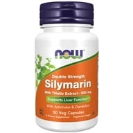 NOW Foods - Silymarin 2X 300 mg. - 50 Vegetarian Capsules (733739047380)