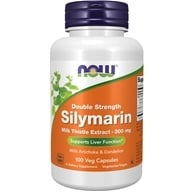 NOW Foods - Silymarin Milk Thistle Extract with Artichoke and Dandelion - 2X - 300 mg. - 100 Vegetarian Capsules (733739047397)