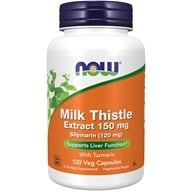 NOW Foods - Silymarin Milk Thistle Extract 150 mg. - 120 Vegetarian Capsules (733739047373)