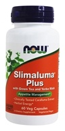 NOW Foods - Slimaluma Caralluma Fimbriata with Green Tea and Yerba Mate - 60 Vegetarian Capsules