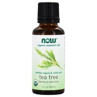 NOW Foods - 100% Pure & Organic Essential Oil Tea Tree - 1 fl. oz.