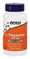 Image of NOW Foods - Theanine 100 mg. - 90 Vegetarian Capsules