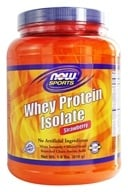 NOW Foods - Whey Protein Isolate Strawberry - 1.8 lbs. (733739021649)