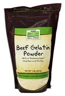 Image of NOW Foods - Beef Gelatin Powder Unflavored - 1 lb.